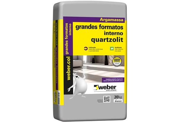 Argamassa Colante Grandes Formatos Interno Branco 20kg - Quartzolit