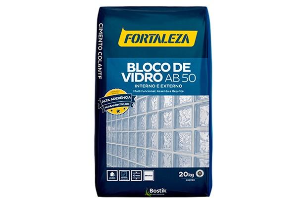 Argamassa para Bloco de Vidro Ab 50 Branca 20kg - Fortaleza