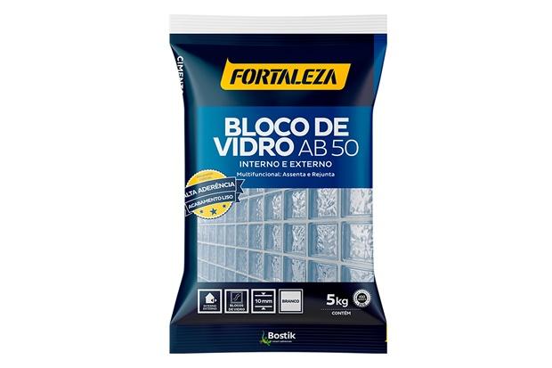 Argamassa para Bloco de Vidro Ab 50 Branca 5kg - Fortaleza