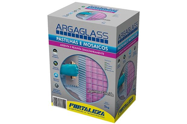 Argamassa  para Pastilha de Vidro Argaglass Branco  5kg - Fortaleza