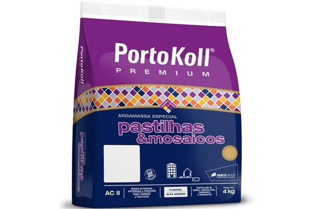 Argamassa para Pastilhas E Mosaicos Cinza Platina 4kg - Portokoll