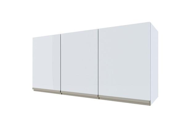 Armário Aéreo para Cozinha em Aço Gaia 115,5cm Branco - Cozimax