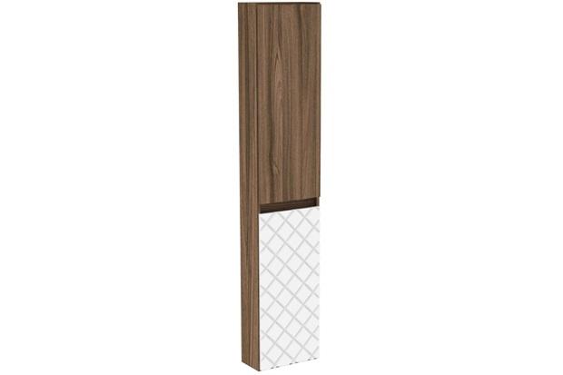 Armário Lateral para Banheiro em Mdf Mônaco 150x30cm Terracota E Branco - Darabas Agardi