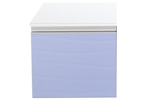 Armário para Banheiro em Mdf Marsala 45x45cm Branco E Azul Sereno - Mazzu