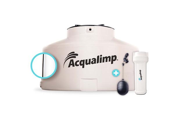 Caixa D'Água em Polietileno Água Limpa com 2 Acessórios 500 Litros Bege - Acqualimp