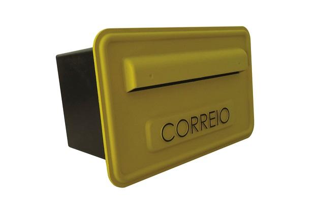 Caixa de Correio Amarela 15,7x25,7cm - Fixtil