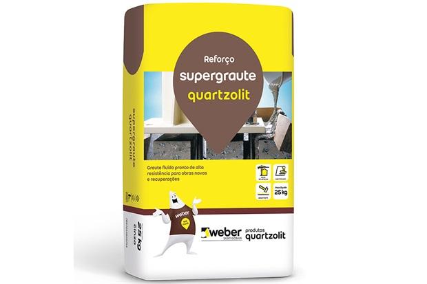 Concreto Fluido Pronto Supergraute 25kg - Quartzolit