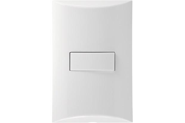 Conjunto 1 Interruptor Intermediário 10a com Placa 4x2 Brava Branco - Iriel