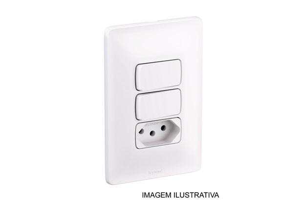 Conjunto de 1 Interruptor Simples, 1 Interruptor Paralelo E 1  Tomada 2p+T 10 a 250 V 4x2  680116 - Pial Legrand