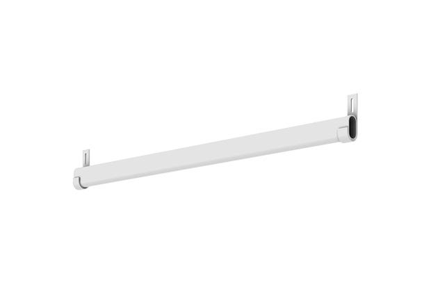 Conjunto de Cabideiro para Closet Branco 80cm  - Fico Ferragens