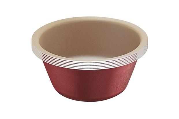 Conjunto de Cupcakes com 6 Peças de Alumínio Vermelho - Tramontina
