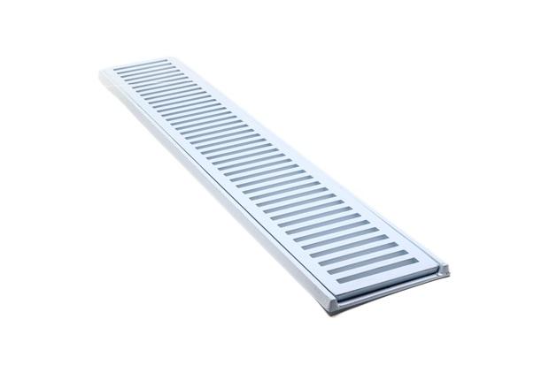 Conjunto Grelha E Porta Grelha em Alumínio Elegance 15x100cm Branco - Costa Navarro