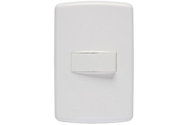 Conjunto Interruptor Simples com Placa 4x2 Duale Up Branco - Iriel