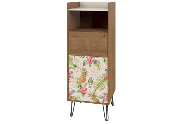 Cristaleira 2 Portas Style 46,5x108cm Buriti E Floral - Líder Design