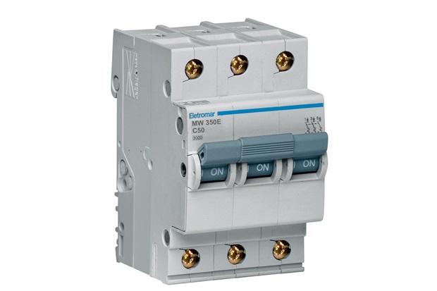 Disjuntor 3p Curva C 50a 220/380v - Eletromar