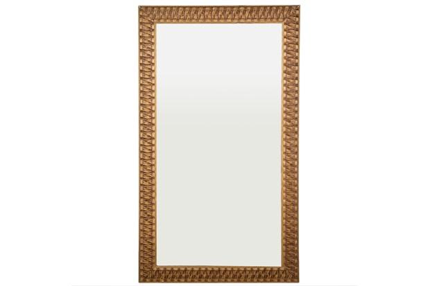 Espelho de Parede Retangular Esmeralda 105 Ect 110x63cm Dourado - Espelhos Leão
