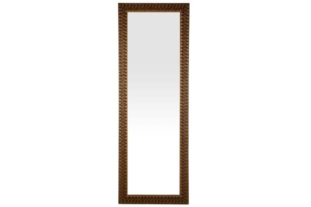 Espelho de Parede Retangular Esmeralda 105 Ectx 153x53cm Dourado - Espelhos Leão