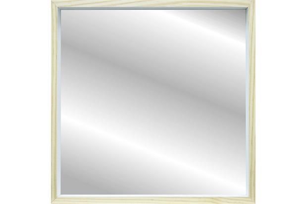 Espelho Decorativo com Moldura Color Wood 50x50cm Branco - Kapos