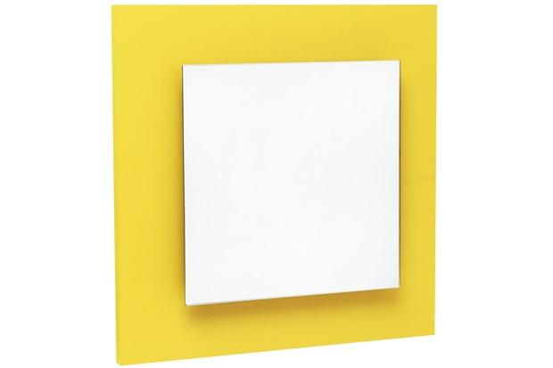 Espelho Ferrara 30 X 30 Cm Amarelo - Casanova