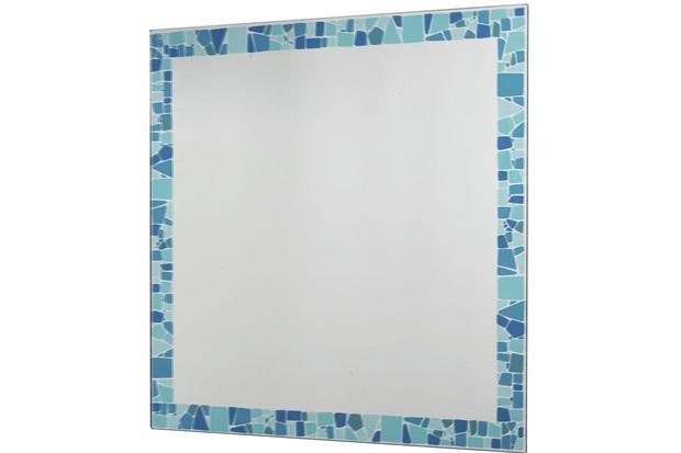 Espelho Mosaico Colore 54x52,5cm Azul - Cris Metal