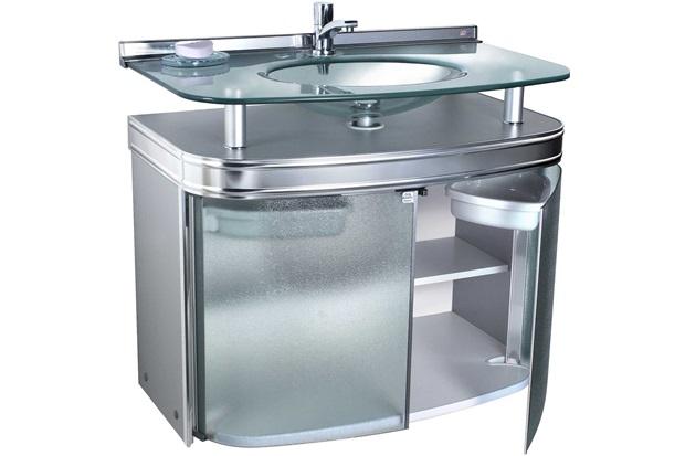 Gabinete para Banheiro com Cuba de Embutir Master 62,5x47,5cm Cromado - Cris Metal