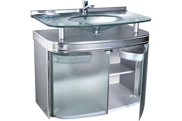 Gabinete para Banheiro com Cuba de Embutir Master 80x47,5cm Cromado - Cris Metal