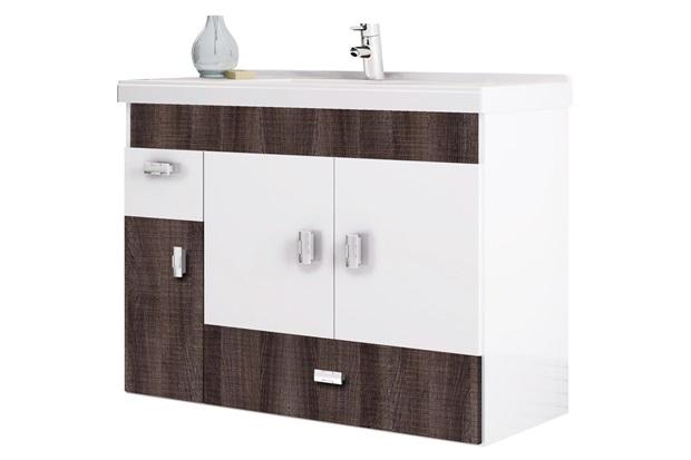 Gabinete para Banheiro em Mdf com Tampo Orquídea 78,8cm Branco E Dakota - Cozimax