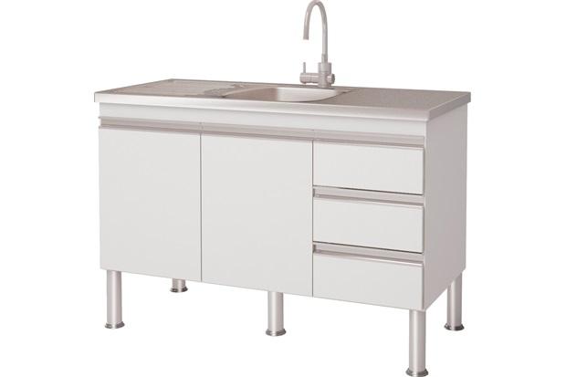 Gabinete para Cozinha em Mdf Ibiza 120cm Branco - MGM