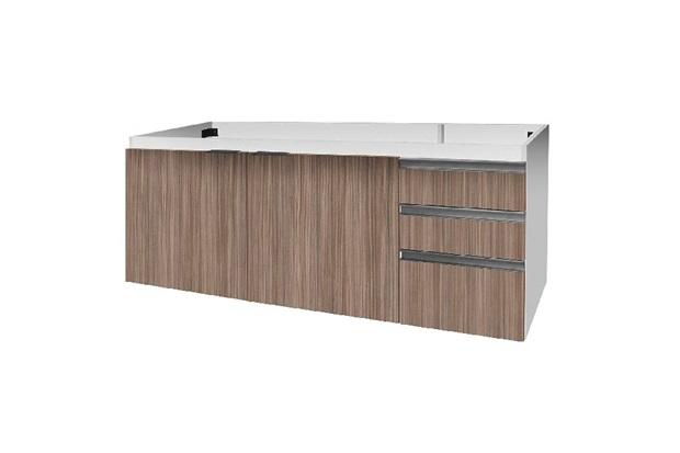 Gabinete para Pia 150cm Blu 2 Portas Branco - Bumi Móveis