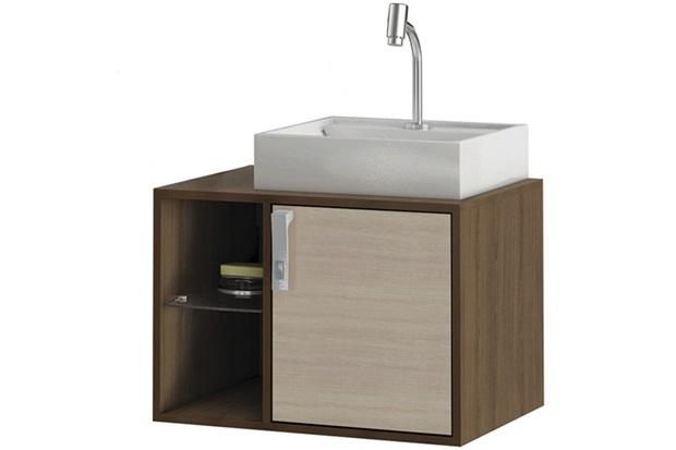 Gabinete Suspenso para Banheiro com Cuba Sevilha - MGM Móveis