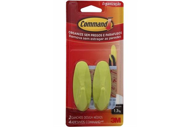 Gancho Design Command Amarelo  - 3M