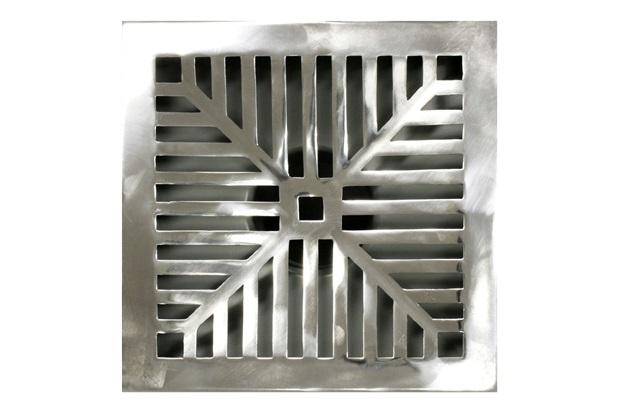 Grelha Alumínio Polido 15x15cm  - Metalúrgica da Vila