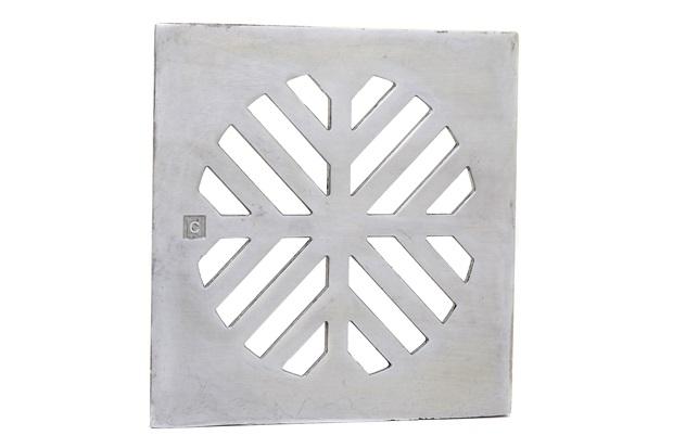 Grelha para Caixa Sifonada Quadrada 10cm Polida - Costa Navarro