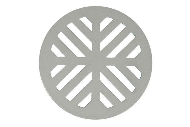 Grelha para Caixa Sifonada Redonda 15cm Areia - Metalúrgica da Vila