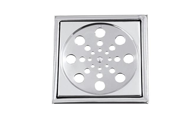 Grelha Quadrada em Aço Inox Alto Brilho sem Caixilho 10 Cm sem Fecho Ref.: Vad381 - Casanova