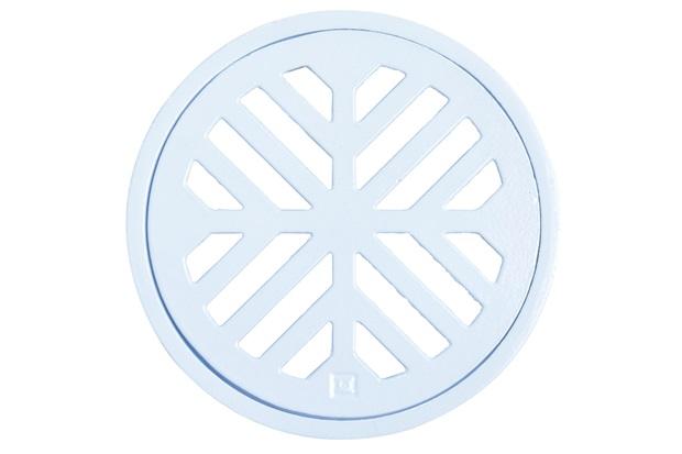 Grelha Redonda em Alumínio Elegance 10cm Branca - Costa Navarro