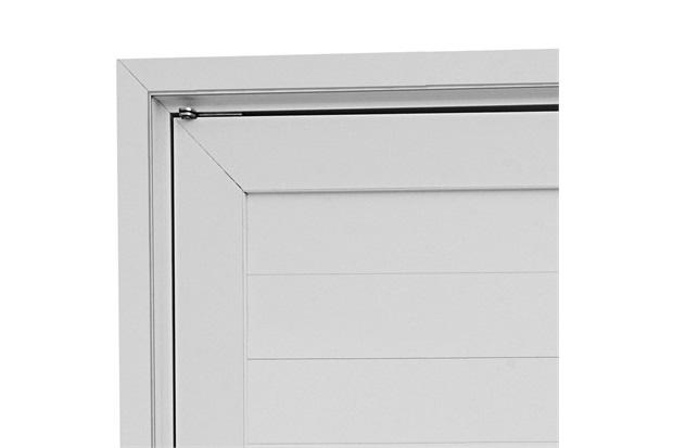 Guarnição para Porta Pivotante Aluminium 243,5x146,2cm Branca - Sasazaki