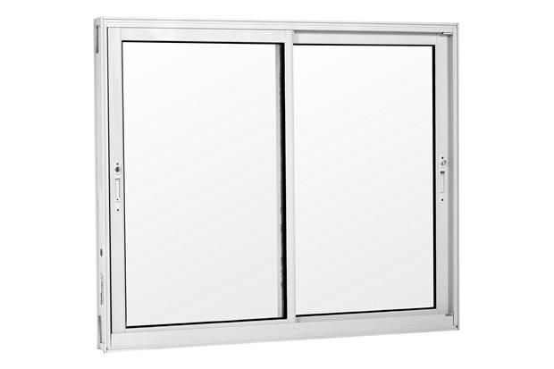 Janela 2 Folhas Móveis de Alumínio sem Grade Una Branca 120x120cm - Casanova