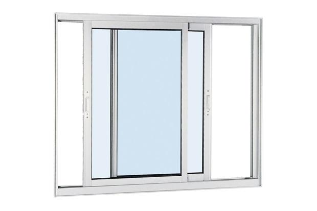 Janela de Correr Aluminium 100x150cm Branca - Sasazaki