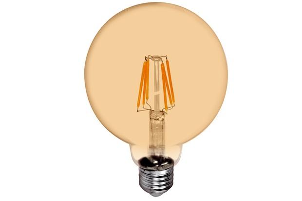 Lâmpada Led G125 com Filamento 6w Bivolt 2400k Luz Amarela - Casanova