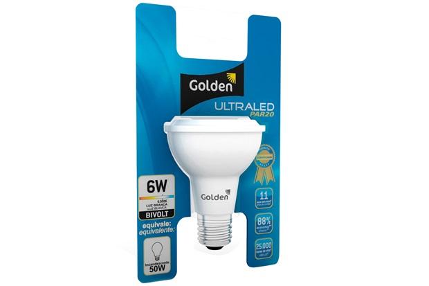 Lâmpada Led Par20 6w Bivolt 6500k - Golden