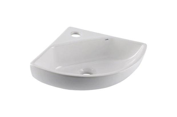 Lavatório de Canto Suspenso Angular 42x34,5cm Branco - Celite