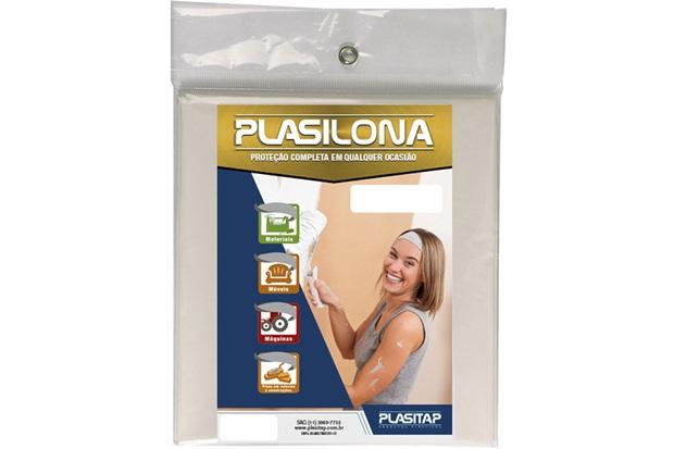 Lona Plástica Plasilona 5x4m Transparente - Plasitap