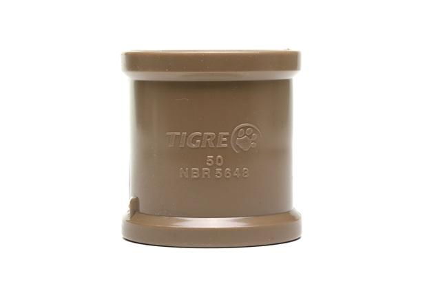 Luva de Correr para Tubo Soldável 50 Mm Marrom - Tigre