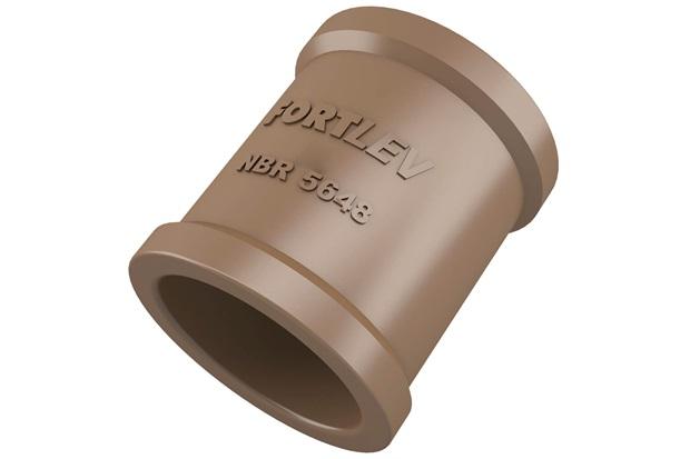 Luva em Pvc Soldável 32mm Marrom - Fortlev