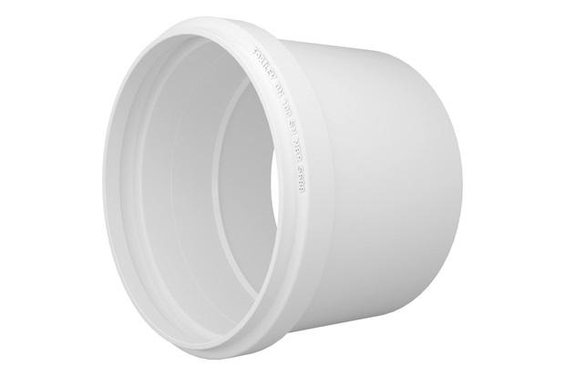 Luva Simples em Pvc para Esgoto 100mm Branca - Fortlev
