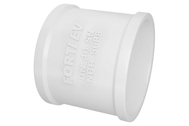 Luva Simples em Pvc para Esgoto 40mm Branca - Fortlev