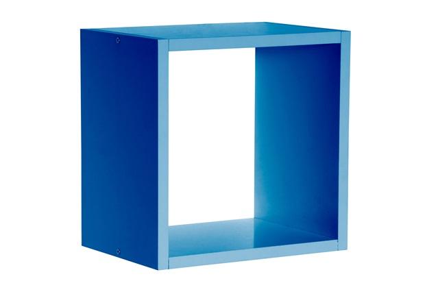Nicho em Mdf Quadrado Kids 28cm Azul - Prat-k