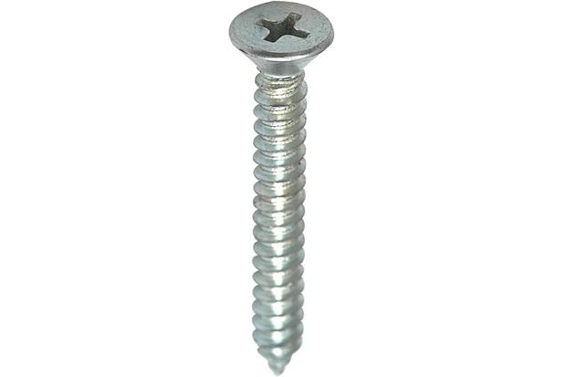 Parafuso Atarraxante para Parafusadeira Cabeça Chata 4,8x38mm com 10 Peças Zincado - Fixtil