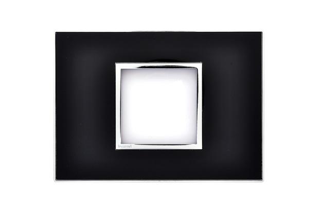 Placa 2 Postos 4x4 Mirror Black - Pial Legrand
